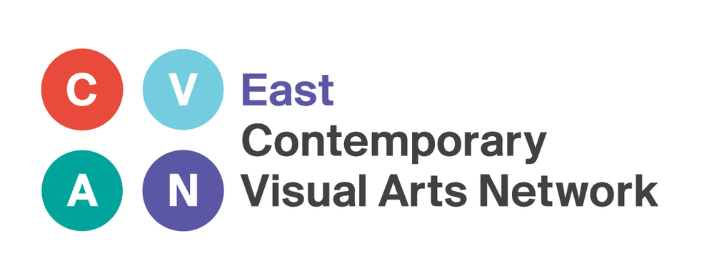 C.V.A.N. East logo, East Contemporary Visual Arts Network