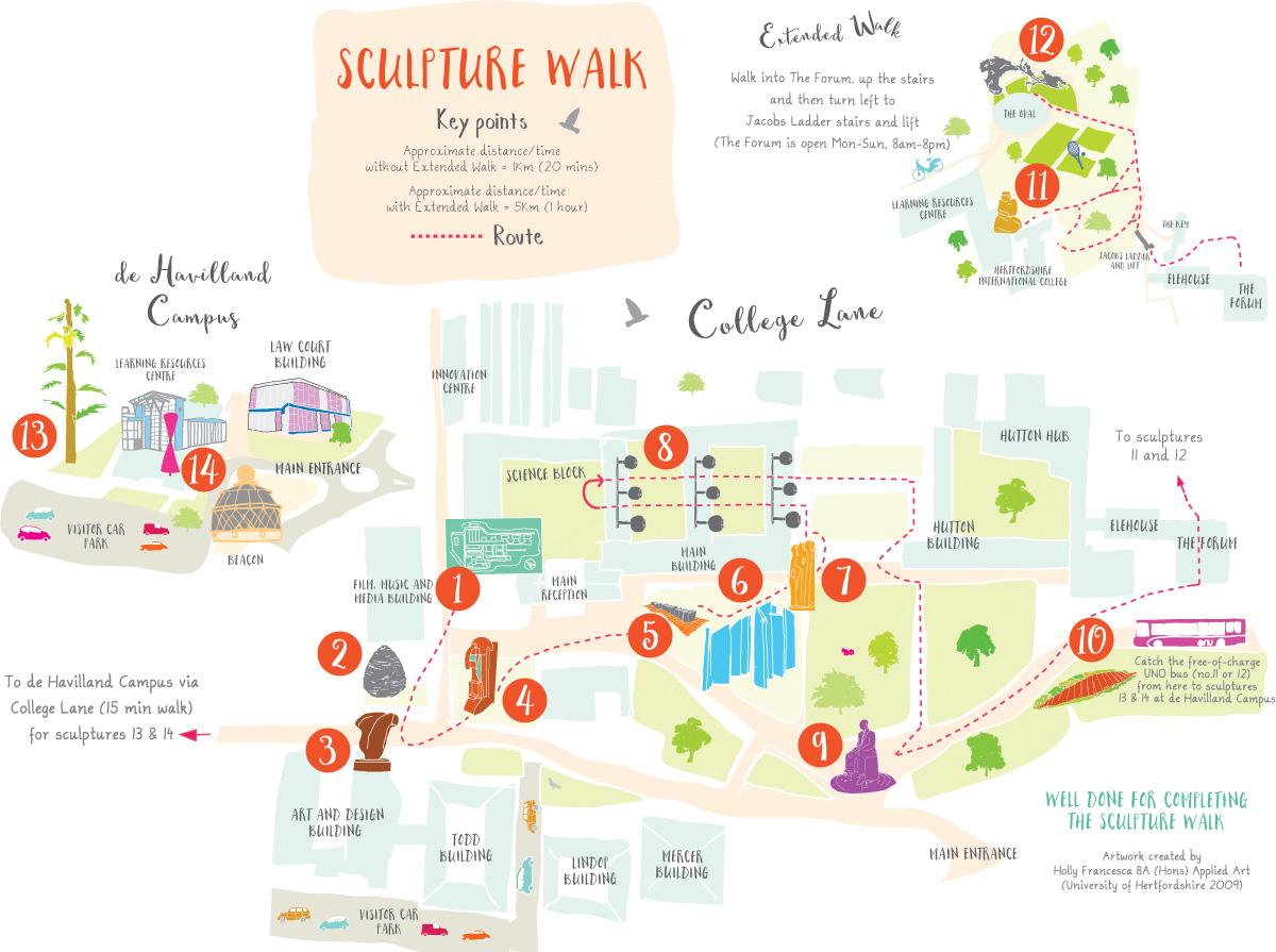 interactive sculpture map