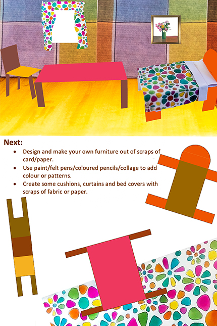 Design your own furniture, a bed, table.